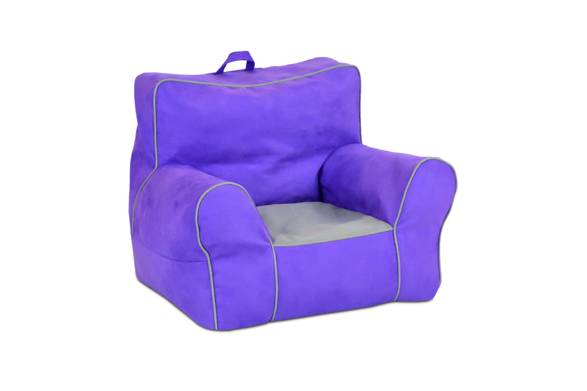 Toddler Soft Chair Zippity Kids Soft Sided Chair With Handle Perfectly Plum