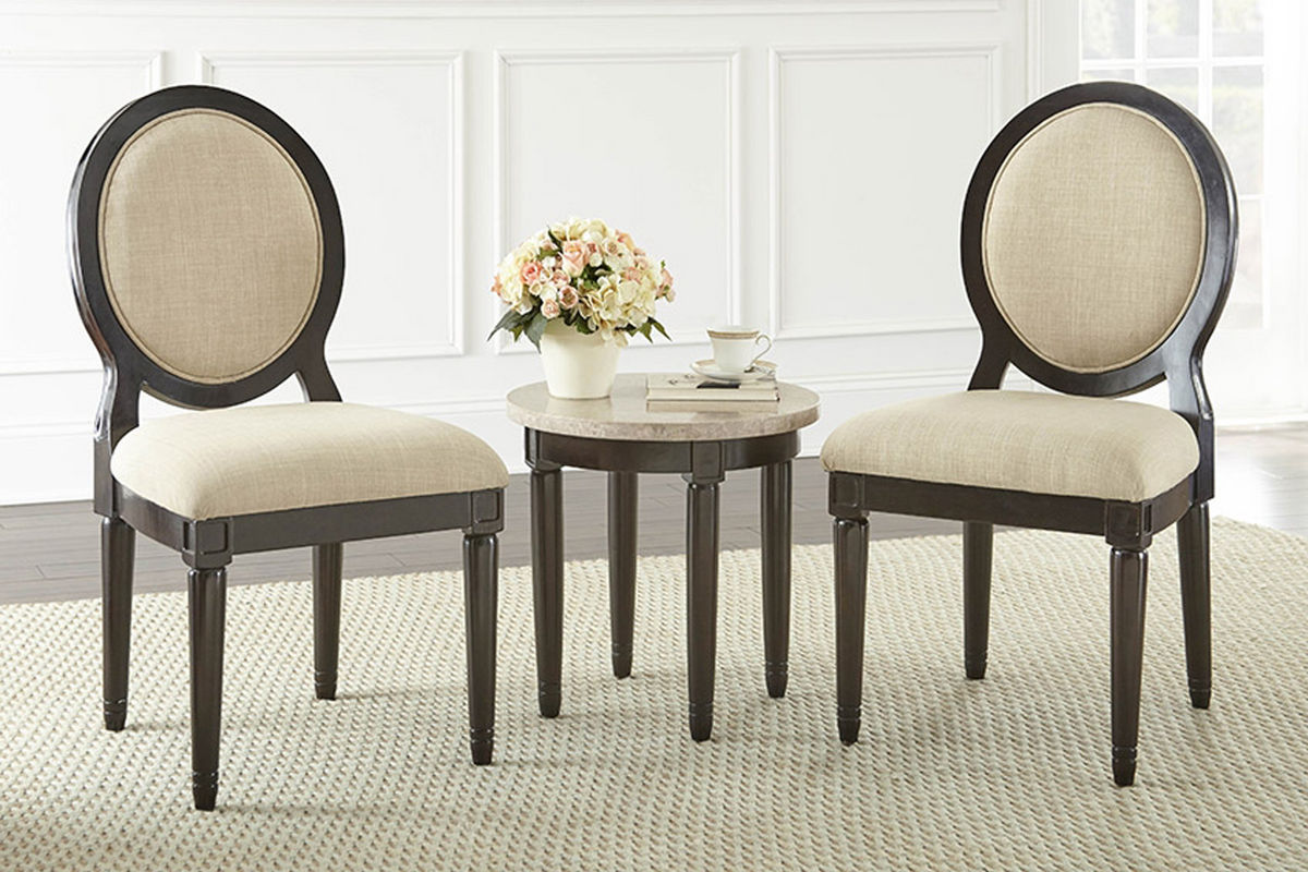 Round Corner Chair Philly Round Corner Table With 2 Chairs At Gardner White