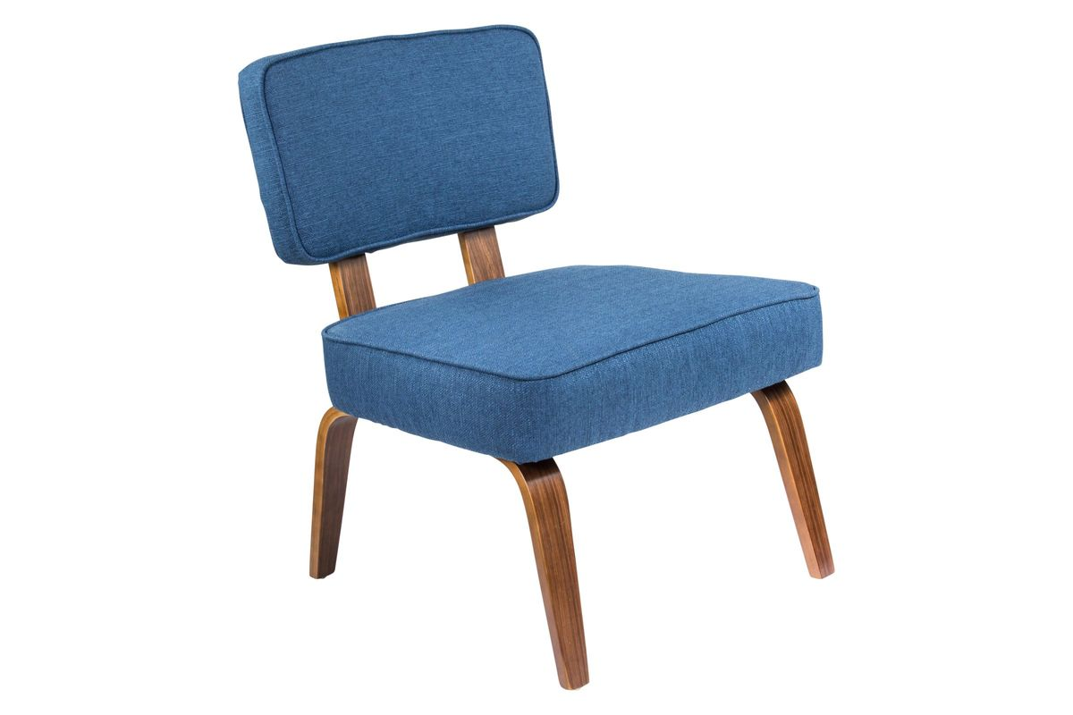 Navy Accent Chair Nunzio Mid Century Modern Accent Chair In Navy Blue By