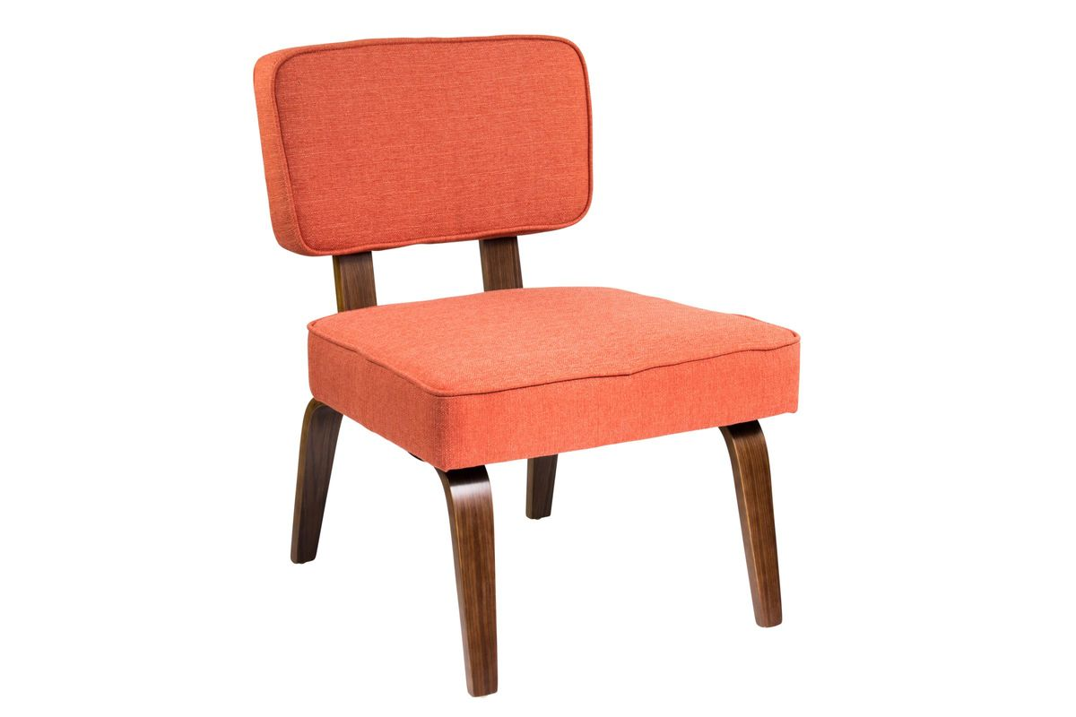 Modern Orange Chair Nunzio Mid Century Modern Accent Chair In Deep Orange By