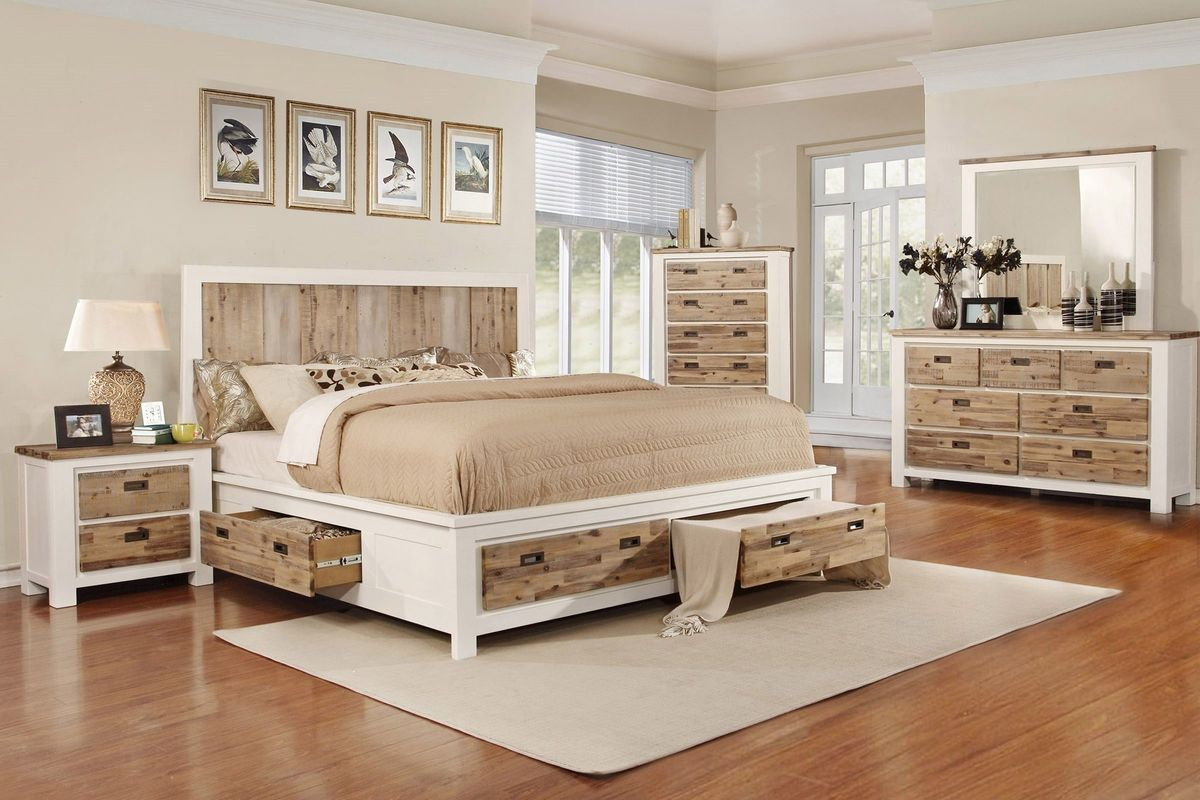 "Western 5-Piece Queen Bedroom Set With 32"" LED-TV At"