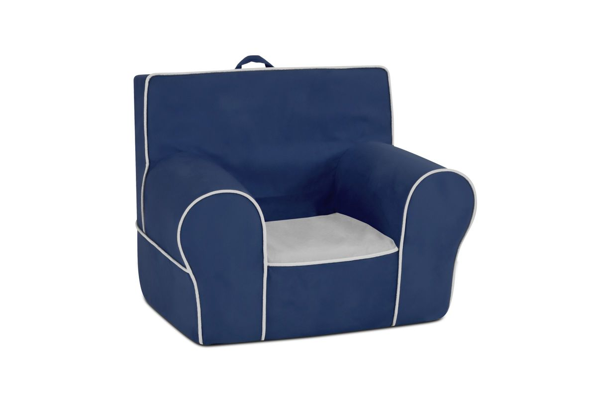 Toddler Foam Chair Kids 39 Grab N Go Foam Chair In Navy By Kangaroo Trading Co