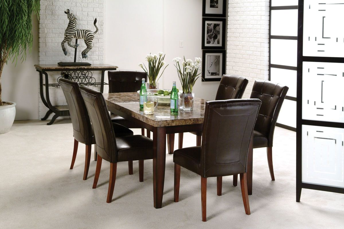 Dining Table And 6 Chairs Montibello Dining Table 43 6 Chairs At Gardner White