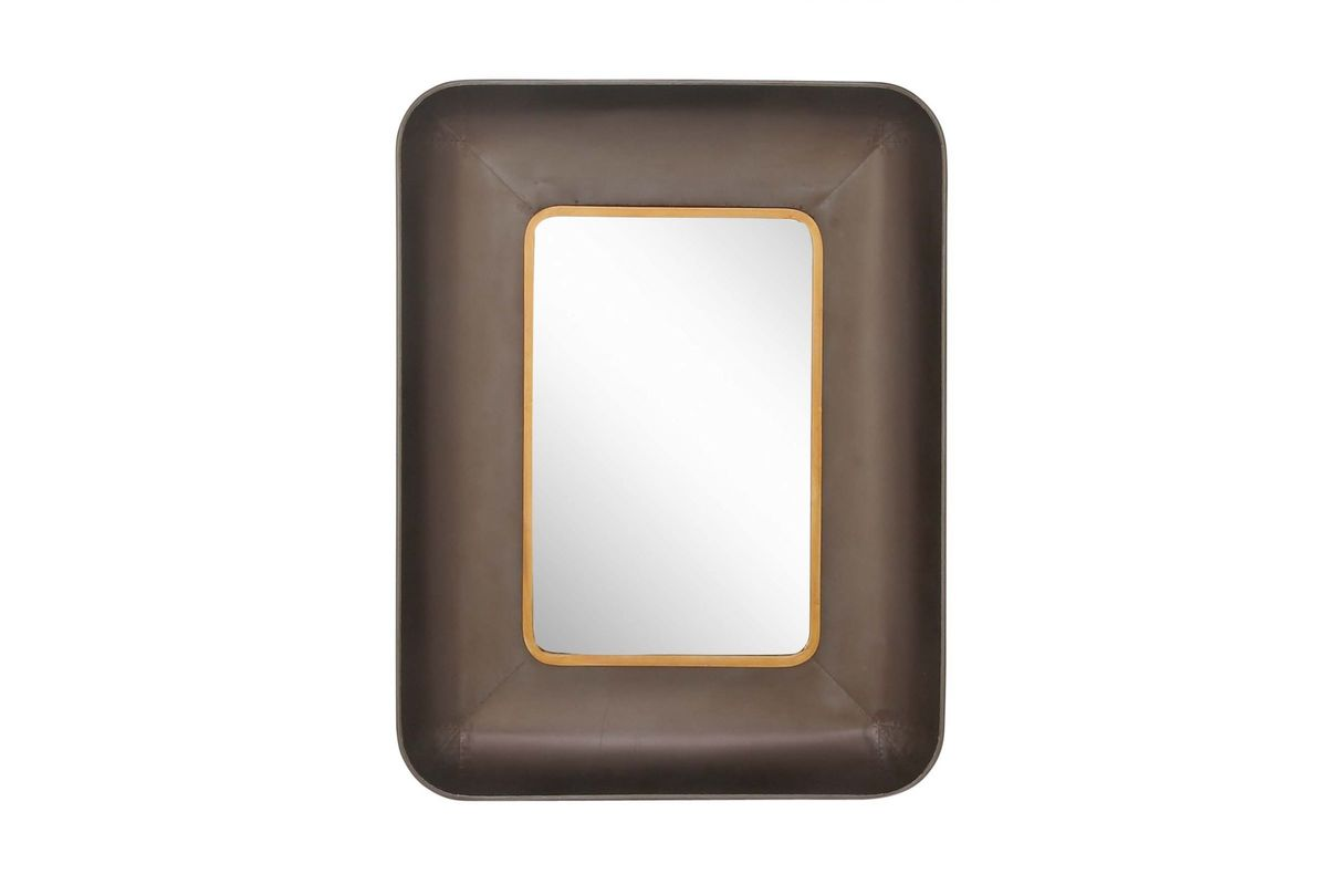 Modern Reflections Rounded Rectangular Wall Mirror In