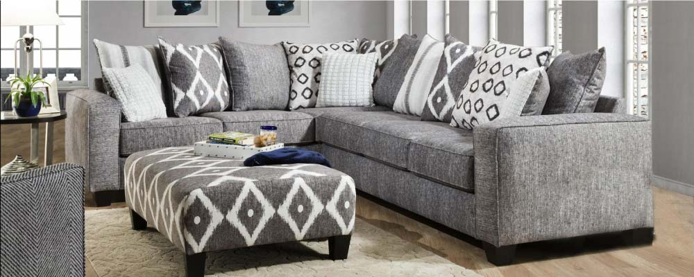 gardner white living room sets beach look furniture michigan stores contemporary grey sectional with bold pillow back design