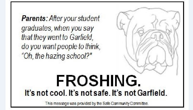 Garfield Community PTSA Message about Hazing