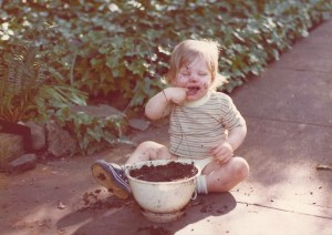 Jon eating dirt 1975 Little Rock, ARK