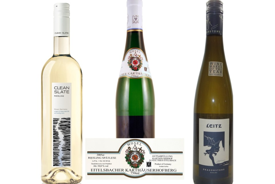 tale of three riesling labels