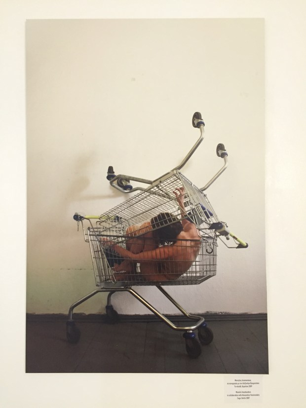 """Cage"", Manolis Anastasakos and Alexandros Vasmoulakis, 2009. If anyone has had time to meditate on the pitfalls of consumerism, it's Greece."