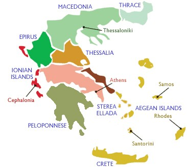 Note Epirus, appropriately colored in forest green.