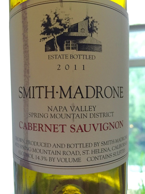 Smith Madrone 2011 Cabernet