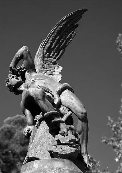 Lucifer Statue Madrid Spain