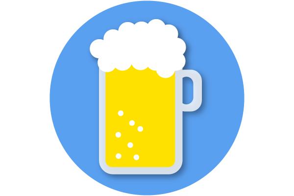 生ビールの描き方!
