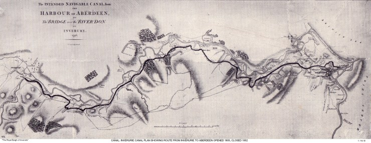 1 1G f2 Canal Plan from Inverurie to Aberdeen