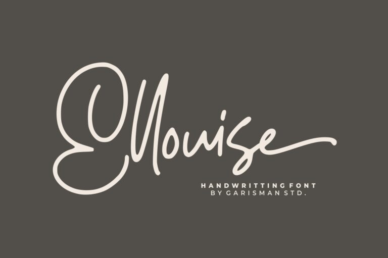 Preview image of Ellouise – Handwritten Font