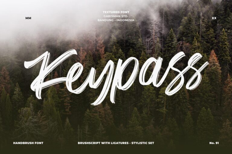 Preview image of Keypass – Handbrush Font