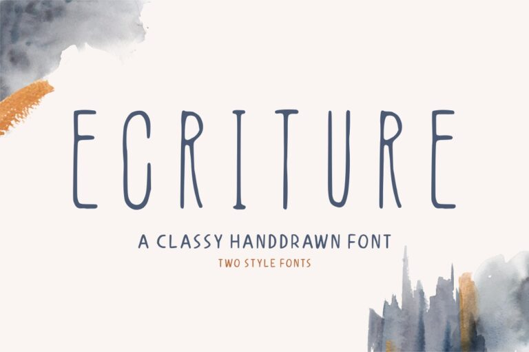 Preview image of Ecriture – Handdrawn Font