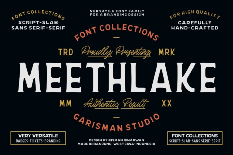 Preview image of Meethlake Typeface