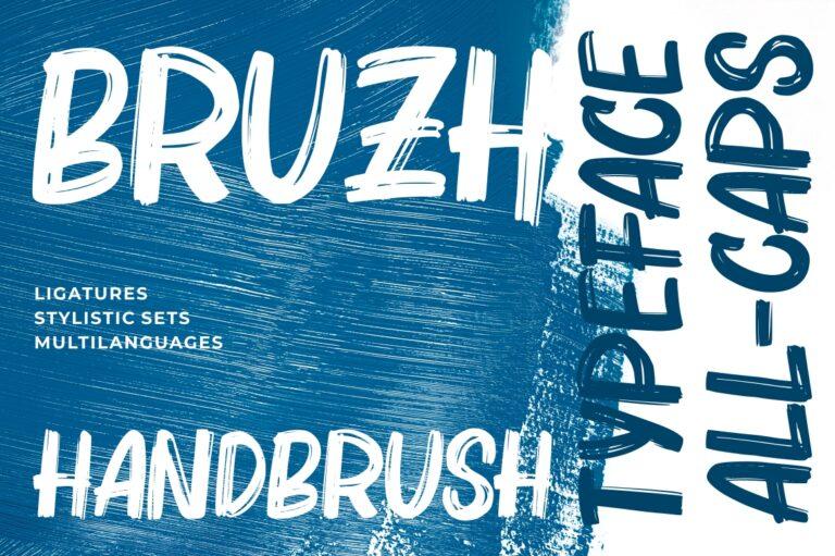 Preview image of Bruzh – Handbrush Font
