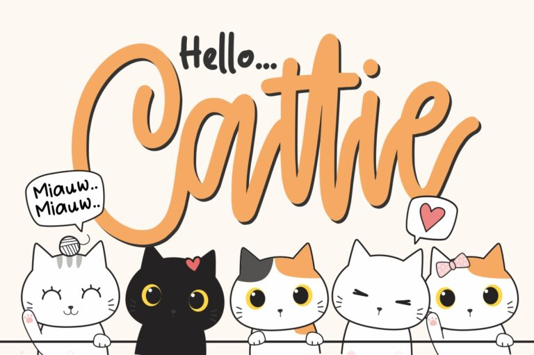 Preview image of Cattie – Crafty Font