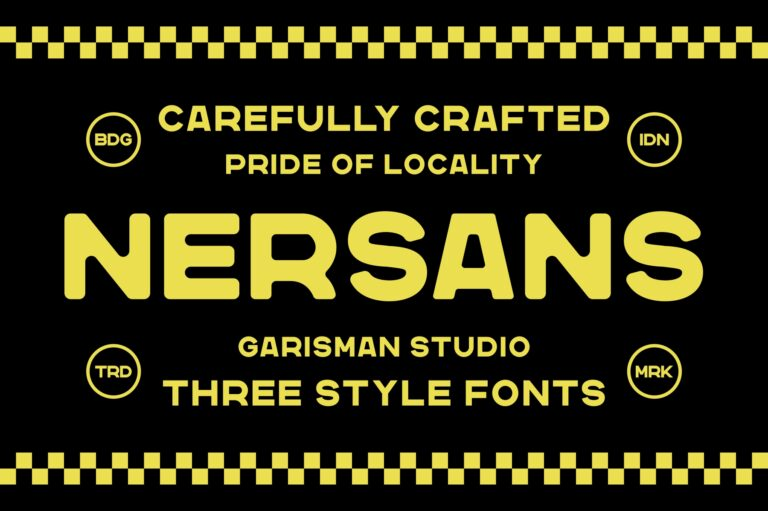 Preview image of Nersans – Vintage Font