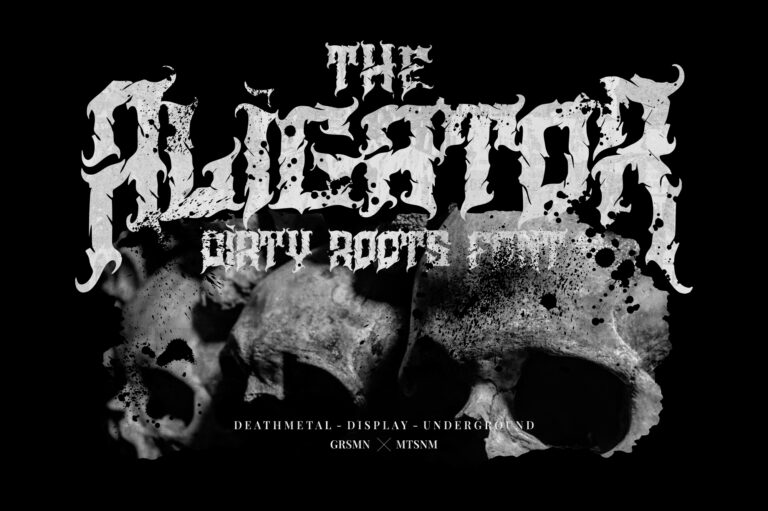 Preview image of Aligator – Deathmetal Font