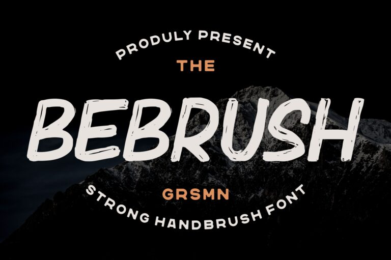 Preview image of Bebrush – Hand brushed Font