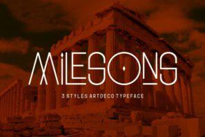 GR Milesons - Artdeco Typeface