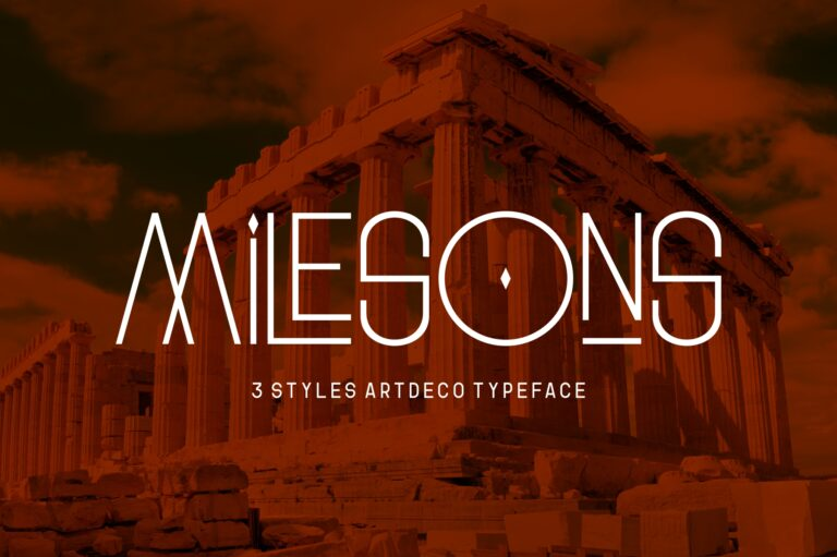 Preview image of GR Milesons – Artdeco Typeface