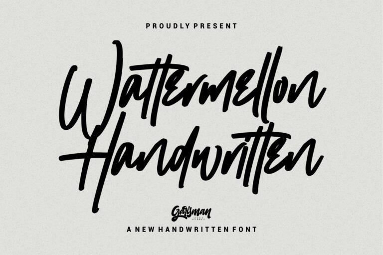 Preview image of Wattermellon Handwritten