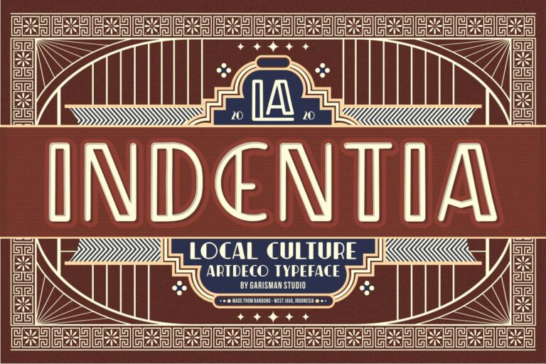 Preview image of Indentia – Art Deco Typeface