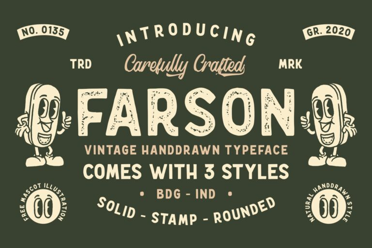Preview image of Farson – Vintage Typeface