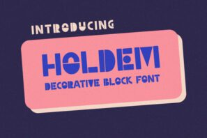 Holdem - Display Block Font