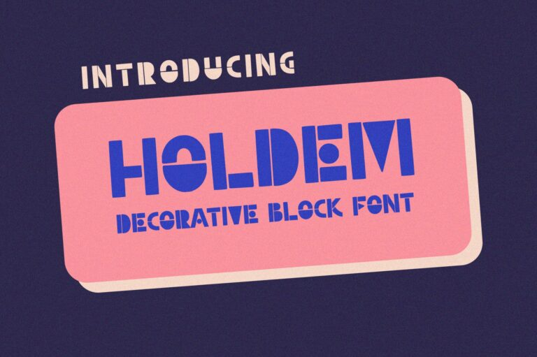 Preview image of Holdem – Display Block Font