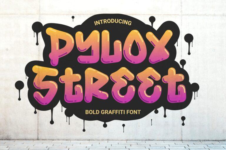 Preview image of Pylox Street – Bold Graffiti Font