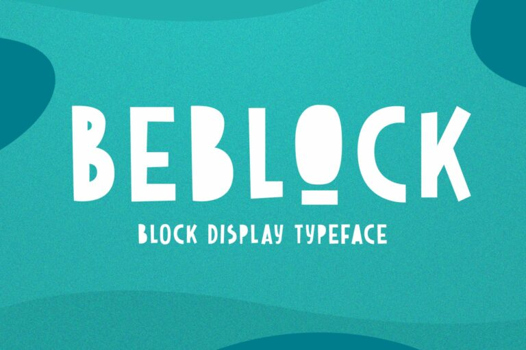 Preview image of Beblock – Display Typeface