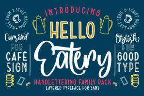 Hello Eatery - Handlettering Pack
