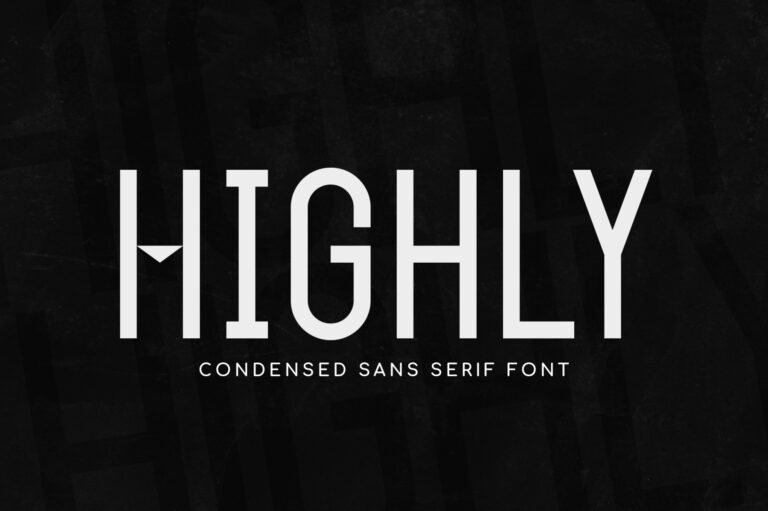 Preview image of Highly – Condensed Typeface