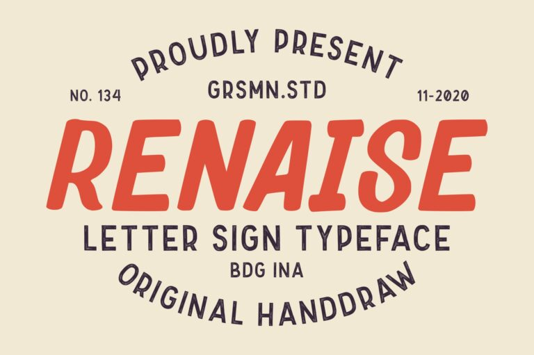 Preview image of Renaise – Letter Sign Typeface