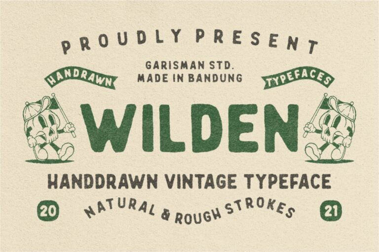 Preview image of Wilden – Handdrawn Vintage Typeface