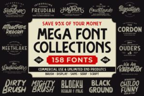 THE MEGA FONT COLLECTIONS