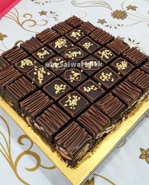 Kek Batik Premium, Kurang Manis, Lembut dan Rasa Crunchy Biskut