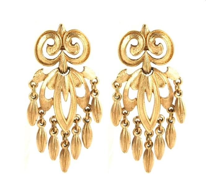Vintage Monet Chandelier Earrings