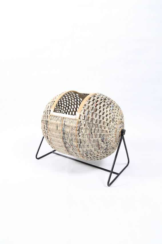 Enin 2: Harry Mawardi, Enin Laundry Basket, 2016, Bamboo+Paper+Metal, 45x57x47 cm, photo: Harry Mawardi