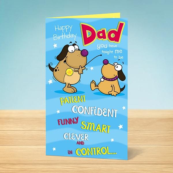 Birthday Card Happy Birthday Dad Funny Dogs Garlanna