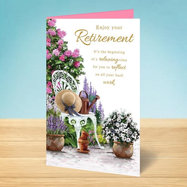 Retirement Card Enjoy Your Retirement Garden Garlanna Greeting Cards