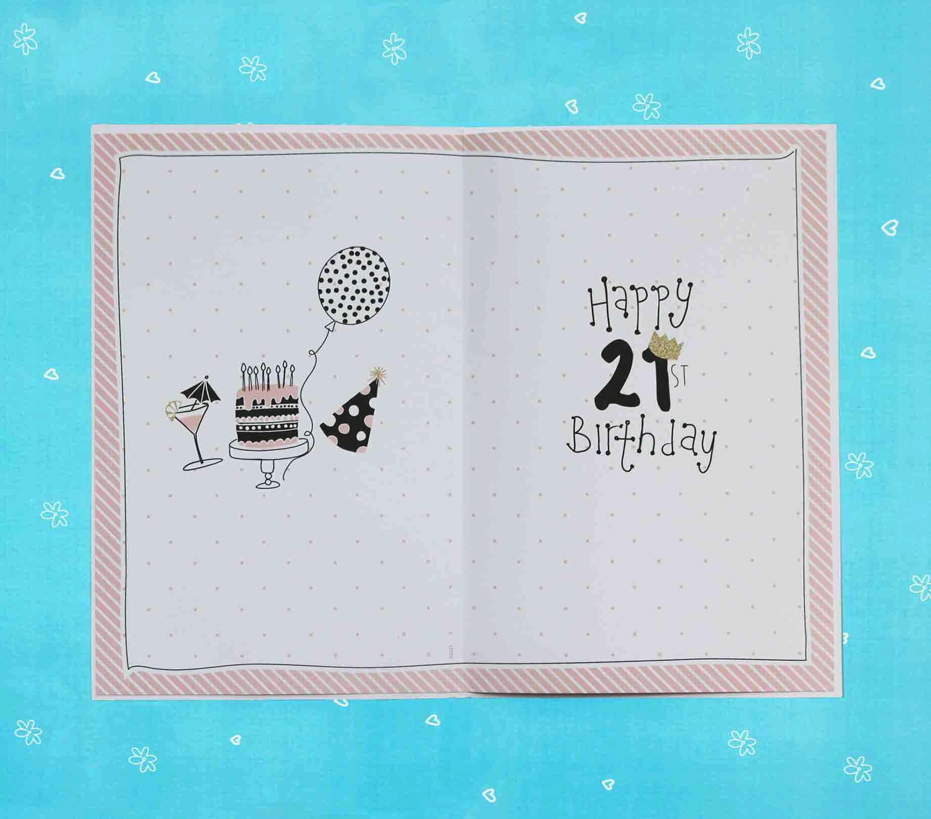 Doodles 21st Birthday Girl Card Garlanna Greeting Cards