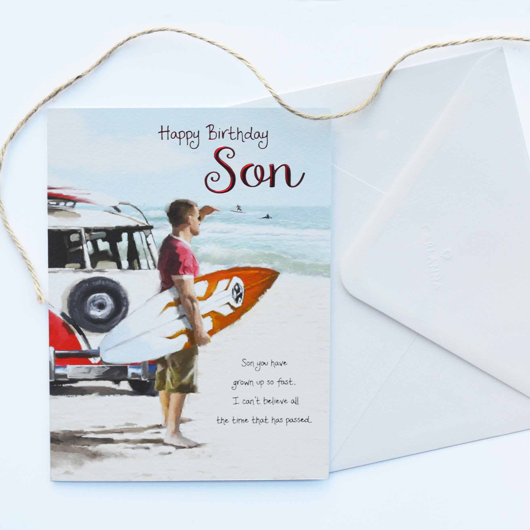 Son Birthday Card Garlanna Greeting Cards