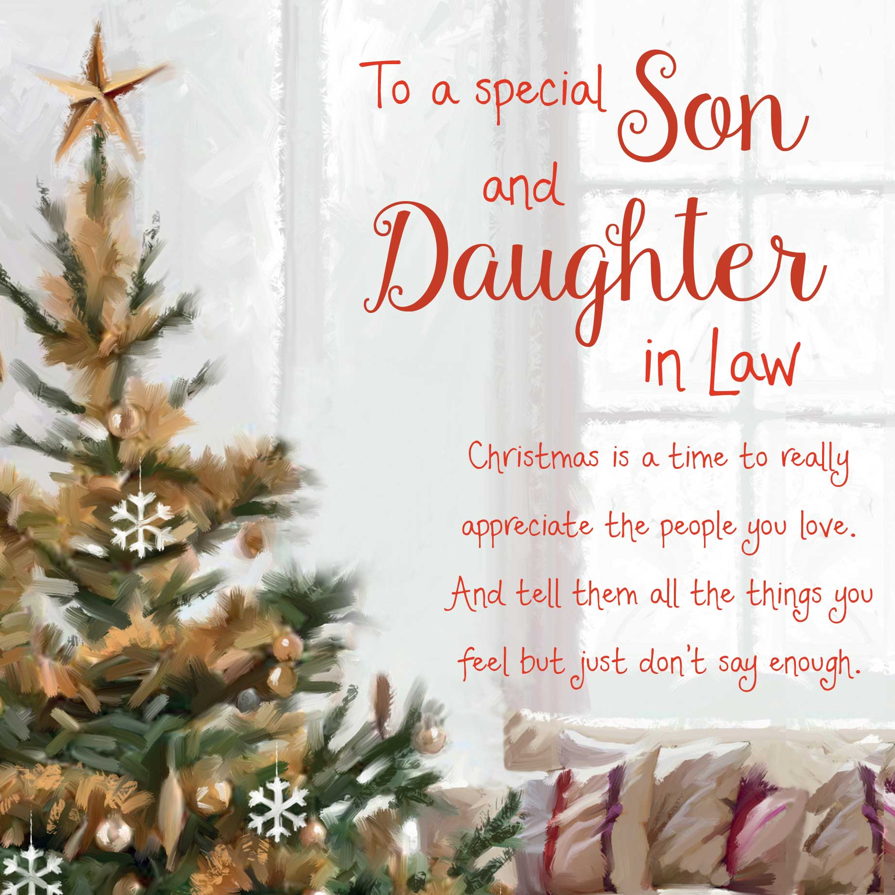Christmas Words Of Warmth Son And Daughter In Law Card