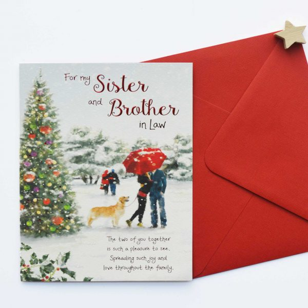 Christmas Words Of Warmth Sister And Brother In Law Card